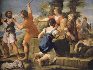 Moïse et les filles de Jethro by Giovanni Francesco Romanelli