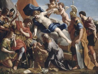 Vénus versant le dictame sur la blessure d'Enée
