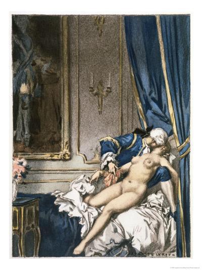 Giovanni Giacomo Casanova Chevalier de Saingalt, with Madame F at Corfu-Auguste Leroux-Giclee Print