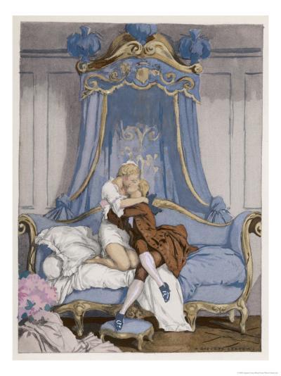 Giovanni Giacomo Casanova Chevalier de Saingalt, with the Young Comtesse at Venice-Auguste Leroux-Giclee Print