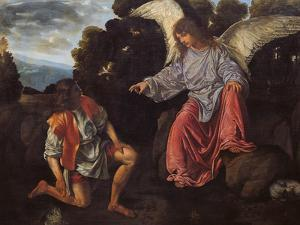 Archangel Raphael and Tobias (Tobias and the Angel) by Giovanni Girolamo
