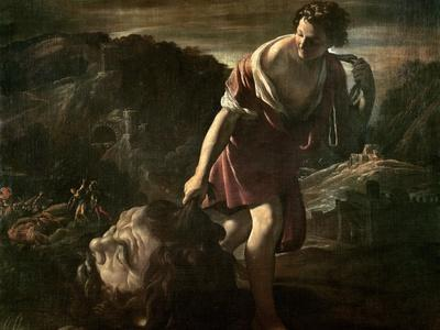 David Dragging Goliath's Head