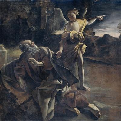Prophet Elijah in the Desert Awakened by an Angel