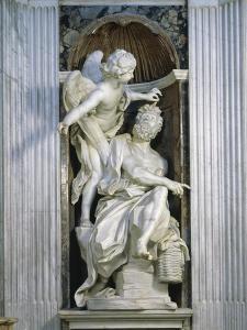 Abacuc and the Angel by Giovanni Lorenzo Bernini