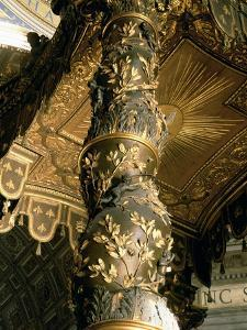 Barley Sugar Column from the Baldacchino with Laurel Leaves and Putti Chasing Bees, 1633 by Giovanni Lorenzo Bernini