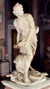 David, 1623-24 by Giovanni Lorenzo Bernini