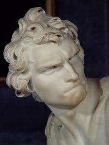 David, Detail of the Head, 1623-23 by Giovanni Lorenzo Bernini