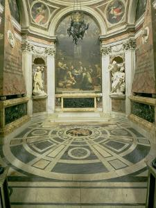 Interior View of the Octagonal Chigi Chapel, Begun by Raphael in 1513 Completed 1652 by Giovanni Lorenzo Bernini