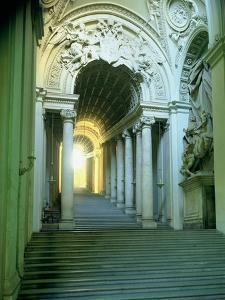 Interior with View of the Staircase by Giovanni Lorenzo Bernini