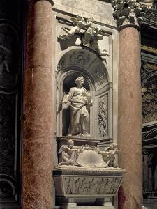 Sepulchre of Matilda the Great Countess (1046-1115), 1633 (Marble) by Giovanni Lorenzo Bernini