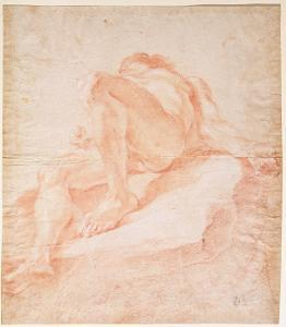 Sketch for the Figure Representing the Danube for 'The Fountain of the Four Rivers', 1648-51 by Giovanni Lorenzo Bernini