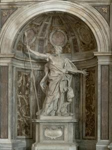 Statue of St. Longinus, at the Base of the Four Pillars Supporting the Dome, 1631-38 by Giovanni Lorenzo Bernini