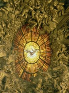 The Chair of St.Peter, Detail of the Stained Glass Window Behind, 1665 by Giovanni Lorenzo Bernini