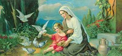 Madonna with Doves
