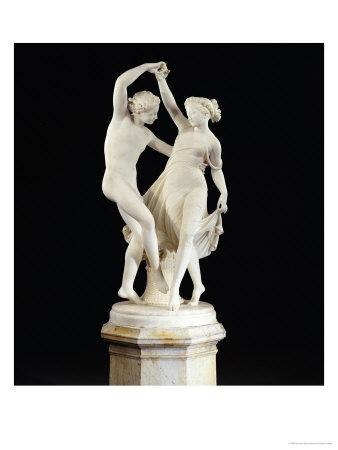 An Italian White Marble Group Entitled la Danza Di Zefiro E Flora, Rome circa 1867