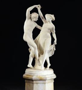 An Italian White Marble Group Entitled la Danza Di Zefiro E Flora, Rome circa 1867 by Giovanni Maria Benzoni