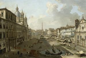 La Place Navone à Rome by Giovanni Pannini
