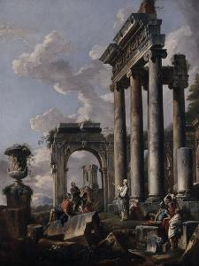 Pr�cation d'une sibylle by Giovanni Pannini