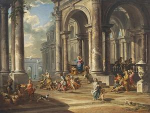 Christ Driving the Money Changers from the Temple by Giovanni Paolo Panini