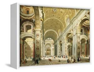 Interior of Saint Peter's Rome, Looking West Towards the Tomb of St. Peter by Giovanni Paolo Panini
