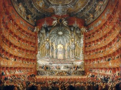 Musical Feast Given by the Cardinal De La Rochefoucauld in the Teatro Argentina in Rome in 1747
