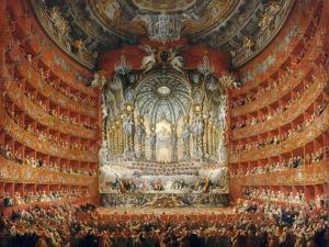 Musical Feast Given by the Cardinal De La Rochefoucauld in the Teatro Argentina in Rome in 1747 by Giovanni Paolo Panini