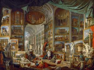 Picture Gallery with Views of Ancient Rome (Roma Antic) by Giovanni Paolo Panini