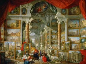 Picture Gallery with Views of Modern Rome (Modern Rom) by Giovanni Paolo Panini