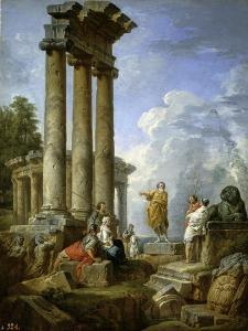 Saint Paul Prophesying Amongst the Ruins, ca. 1735 by Giovanni Paolo Panini