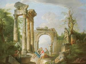 Arcadian Scene, 18th Century by Giovanni Paolo Pannini