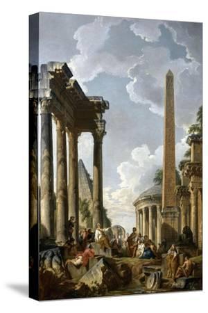 Architectural Caprice with a Preacher in Roman Ruins