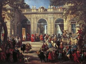 Charles III of Bourbon on Visit to Pope Benedict XIV in the Coffee House of the Quirinal, 1746 by Giovanni Paolo Pannini
