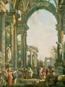Classical Ruins by Giovanni Paolo Pannini