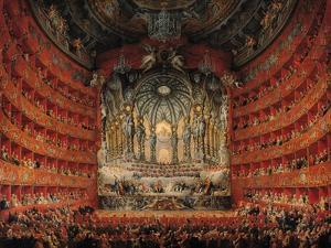 Concert Given by Cardinal de La Rochefoucauld at the Argentina Theatre in Rome by Giovanni Paolo Pannini