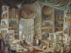 Galerie de vues de la Rome Antique by Giovanni Paolo Pannini