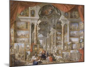 Galerie de vues de la Rome Moderne by Giovanni Paolo Pannini