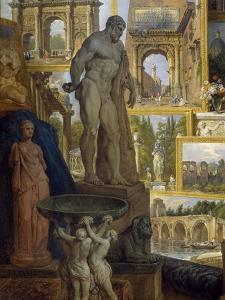 Gallery of Sights of Ancient Rome, Commissioned by Patron Abbot De Canillac, 1758 by Giovanni Paolo Pannini