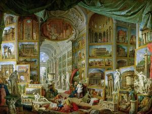 Gallery of Views of Ancient Rome, 1758 by Giovanni Paolo Pannini