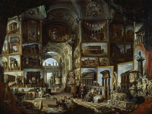 Imaginary Gallery of Views of Ancient Rome, Ca 1756 by Giovanni Paolo Pannini