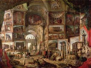 Interior of an Imaginary Picture Gallery by Giovanni Paolo Pannini