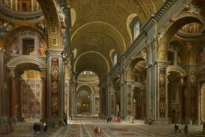 Interior of St. Peter's, Rome, 1731 by Giovanni Paolo Pannini