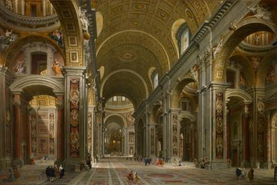 Interior of St. Peter's, Rome, 1731