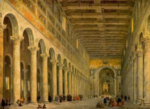 Interior of the Church of San Paolo Fuori Le Mura, by Giovanni Paolo Pannini