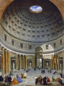 Interior of the Pantheon, Rome, C.1734 by Giovanni Paolo Pannini