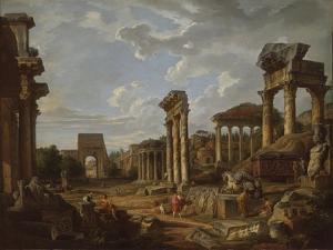A Capriccio of the Roman Forum, 1741 by Giovanni Paolo Pannini or Panini