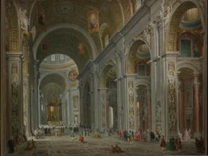 Interior of Saint Peter's, Rome after 1754 by Giovanni Paolo Pannini or Panini
