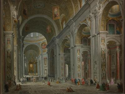 Interior of Saint Peter's, Rome after 1754