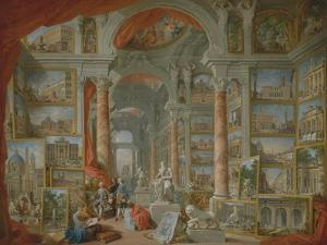 Modern Rome, 1757 by Giovanni Paolo Pannini or Panini
