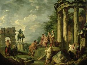 Peasants Amongst Roman Ruins, 1743 by Giovanni Paolo Pannini