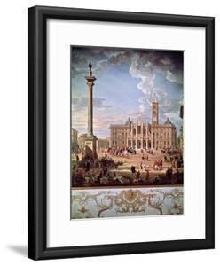 Piazza and Church of Santa Maria Maggiore, 1742 by Giovanni Paolo Pannini